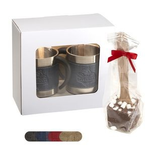Casablanca™ Coffee Cups & Hot Chocolate Spoons Gift Set