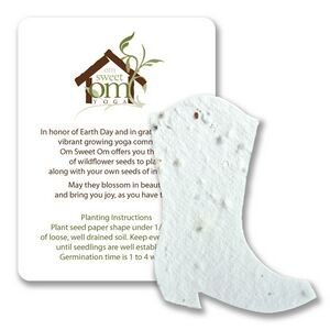 Mini Boot Style2 Shape Seed Paper Gift Pack